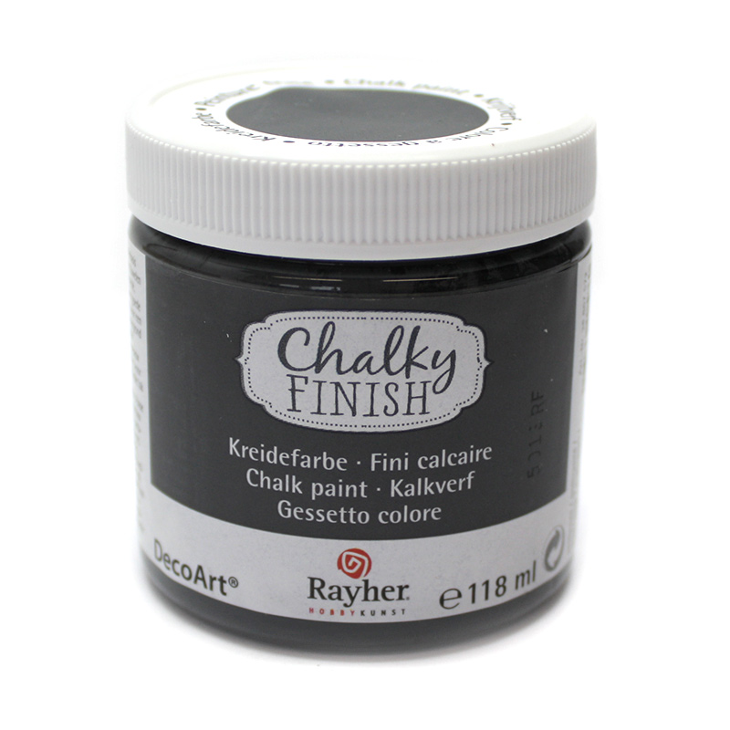 chalky finish kreidefarbe 118 ml anthrazit kreativ depot. Black Bedroom Furniture Sets. Home Design Ideas