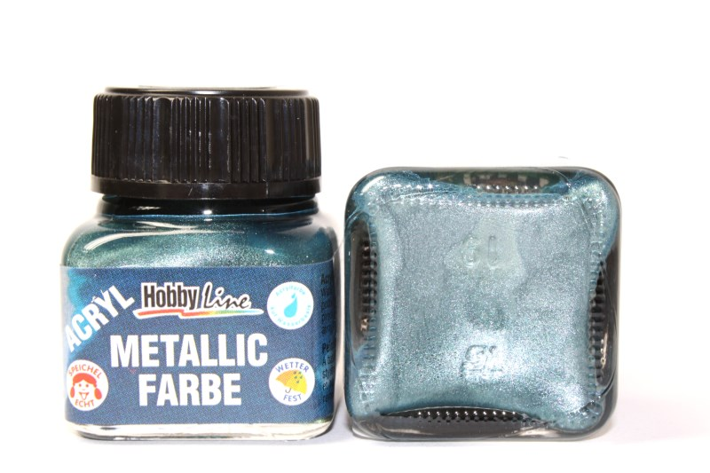 hobby line acryl metallicfarbe 20 ml metallic mintgr n kreativ depot. Black Bedroom Furniture Sets. Home Design Ideas