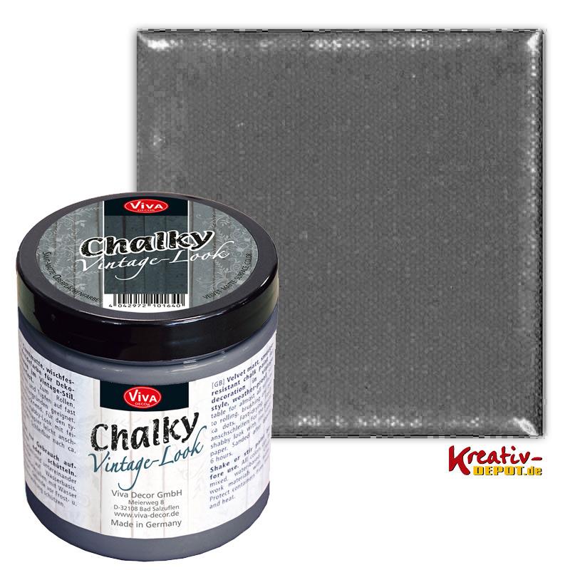 viva decor chalky vintage look 250 ml anthrazit kreativ depot. Black Bedroom Furniture Sets. Home Design Ideas