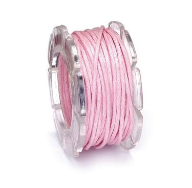 Wachskordel, 1 mm Ø, Rolle mit 5 m, rosa