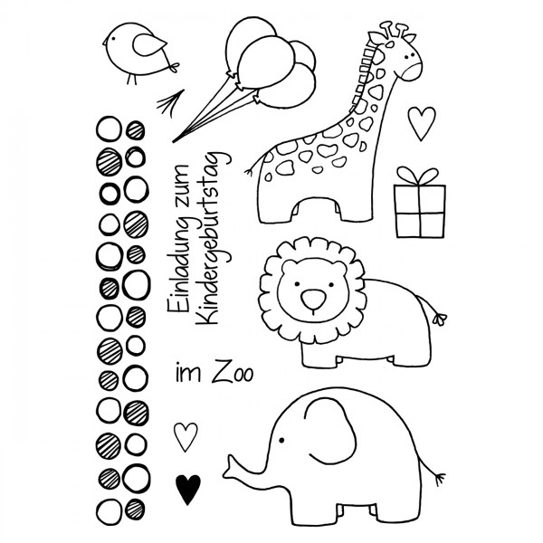 Clear Stamps - Zoo kindlich