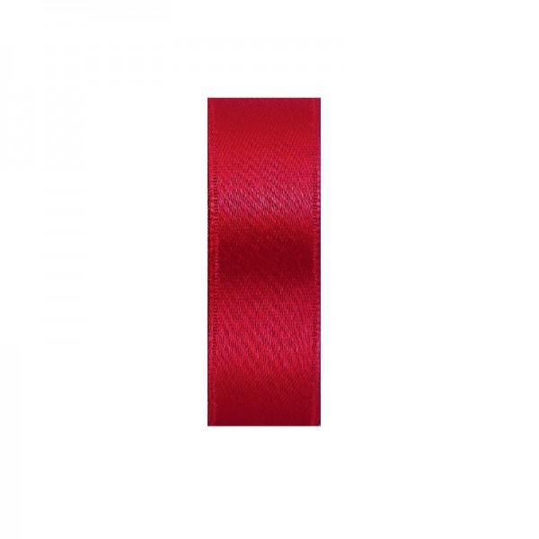 Satinband, doppelseitig, Länge 5 m, Breite 25 mm, hochrot