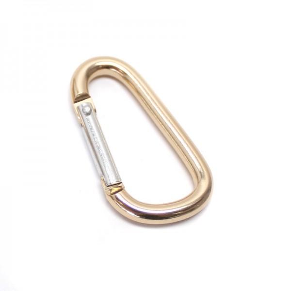 Alu. Karabinerhaken, 50mm -Gold
