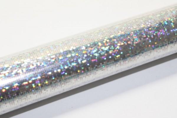 Hologrammfolie, selbstklebend, 0,4 x 1m, Dots silber