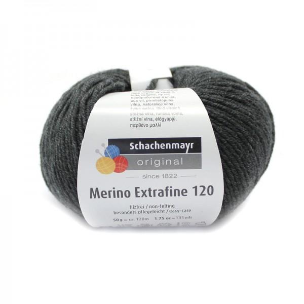 Die Schachenmayr Wolle - Merino Extrafine, anthrazit