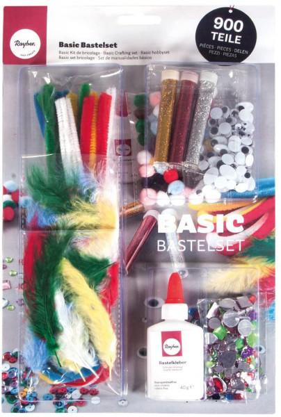 Basic Bastelset - 900 Teile inkl. Bastelkleber