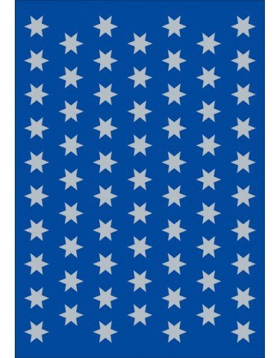 Sticker Sterne, Ø 8 mm, silber