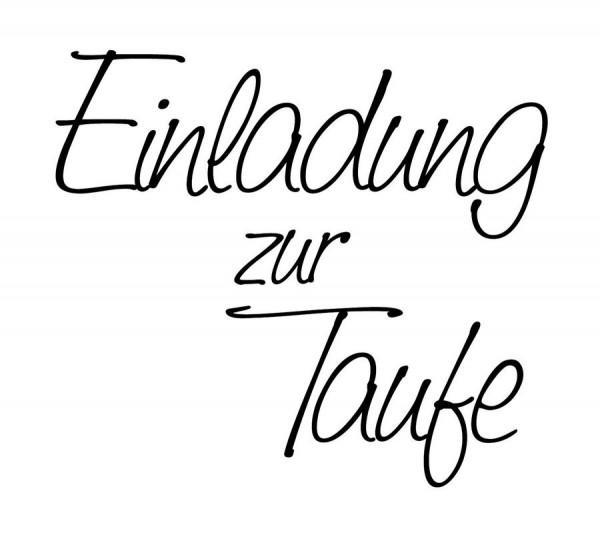 Stempel U0026quot;Einladung Zur Taufeu0026quot; 53x47mm