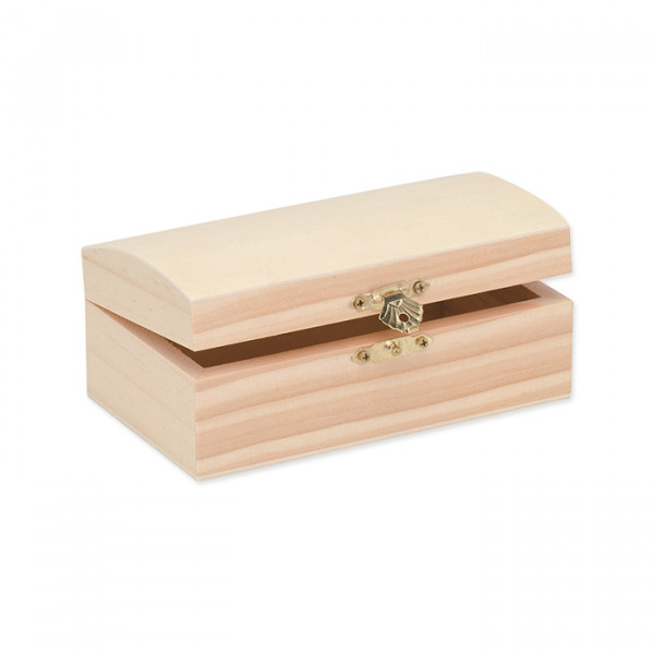 Holz-Barock-Kassette, 14 x 8 cm, Höhe 6,3 cm