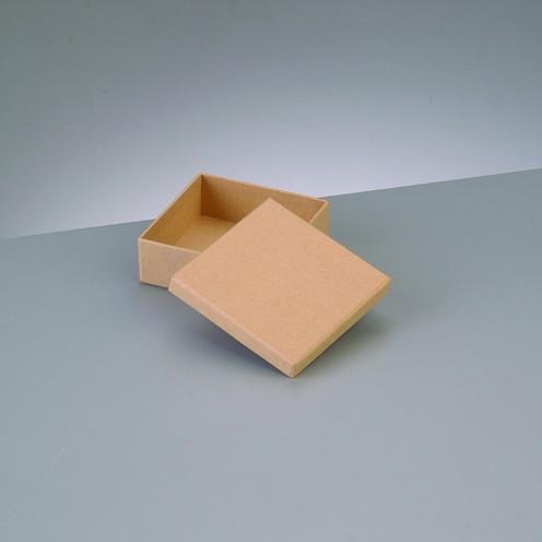 Box Quadrat, aus Pappmaché, 8,5 x 8,5 x 3,1 cm