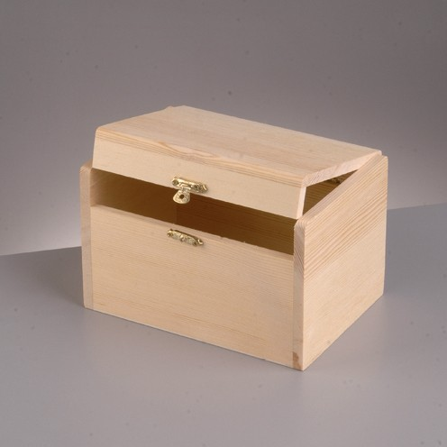 Holztruhe, 12 x 6 x 7 cm