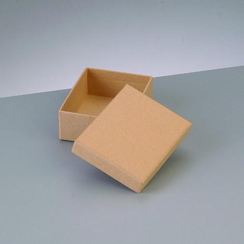 Box Rechteck, aus Pappmaché, 8,5 x 6,5 x 3,1 cm