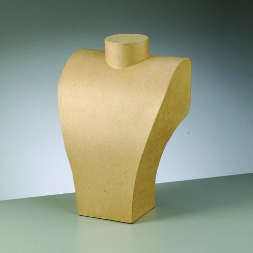 Büste, aus Pappmaché, 29 x 20 cm