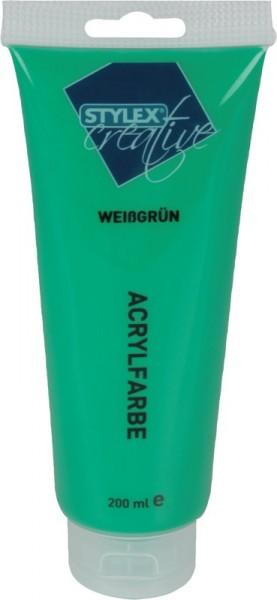 Toppoint Acrylfarbe, 200 ml - Weissgrün