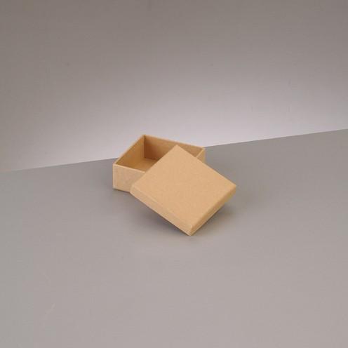 Box Quadrat, aus Pappmaché, 6,5 x 6,5 x 4,5 cm