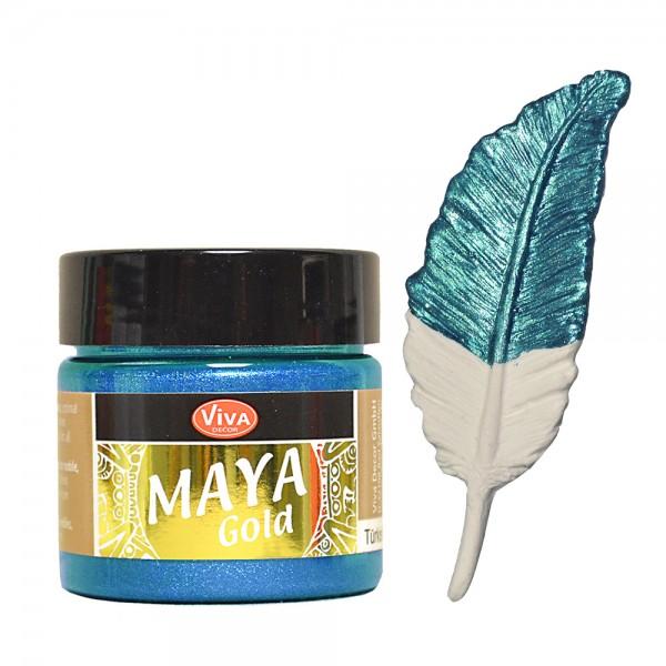 Viva Decor Maya-Gold, 45 ml, Türkis