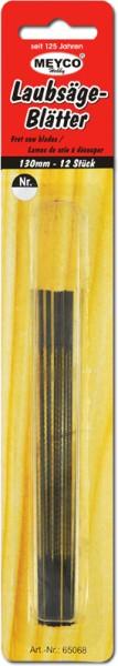 Laubsägeblätter, 12 Stück, 130 mm, Stärke 2-6+9
