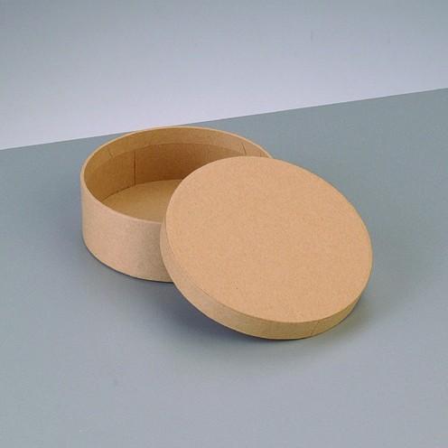 Box Rund, aus Pappmaché, Ø 8,5 x 3,1 cm