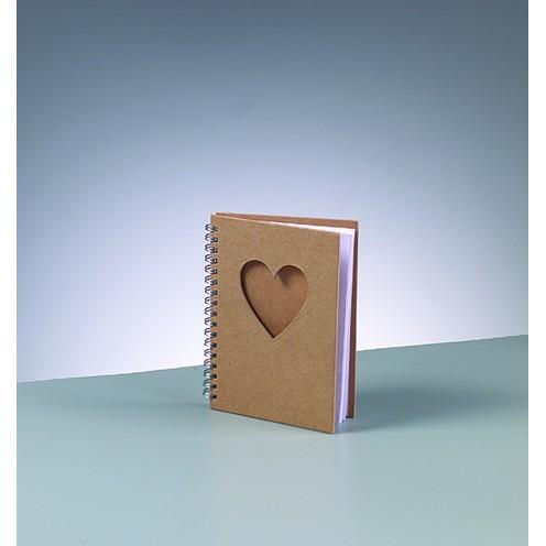 Notizbuch Herz, aus Pappmachè, DIN A6