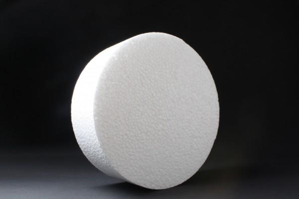 Styropor-Scheibe, Ø 20 cm, Stärke 7 cm