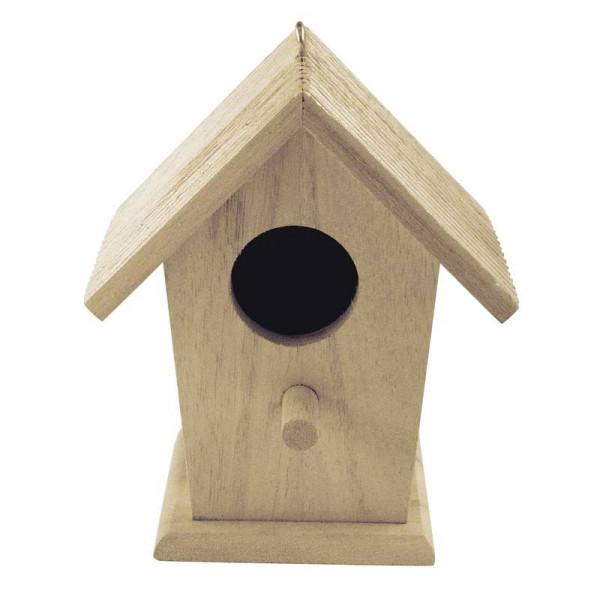 Vogelhaus, aus Holz, 12,5 x 12,5 x 7 cm