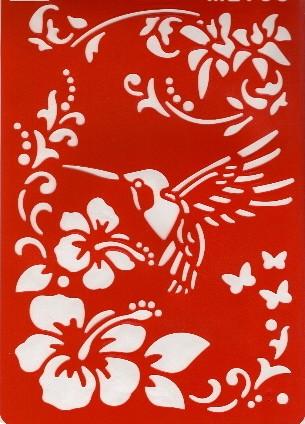 Motiv-Schablone Kolibri