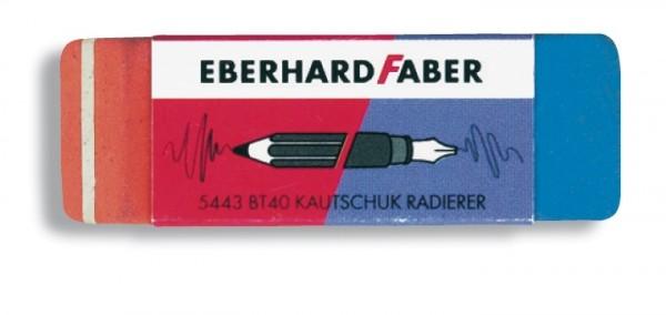 EBERHARD FABER, kombinierter Kautschukradierer, 2-seitig