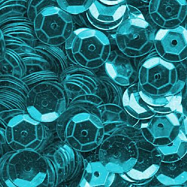Pailletten, rund, gewölbt, 6 mm, 1400 St, eisblau-metallic