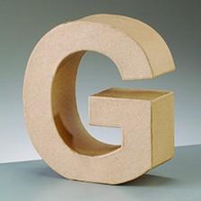 Buchstabe G, 17,5 x 5,5 cm, aus Pappmachè