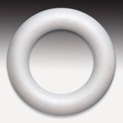 Styropor-Ring, voll, weiß, 22 cm Ø