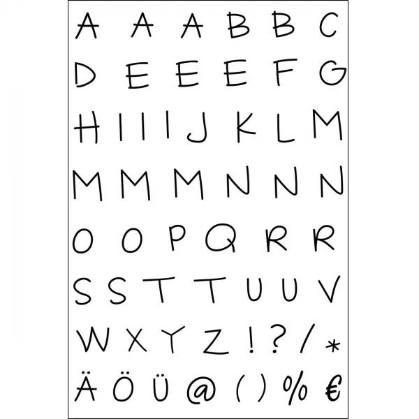 Clear Stamps - Alphabet Großbuchstaben