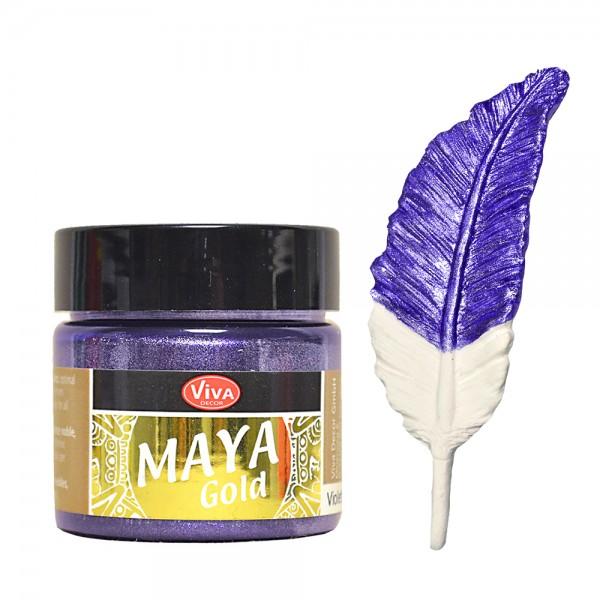 Viva Decor Maya-Gold, 45 ml, Violett