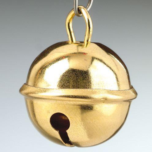 Metallglöckchen/Schellen, Ø 15 mm, 4 Stück, goldfarben