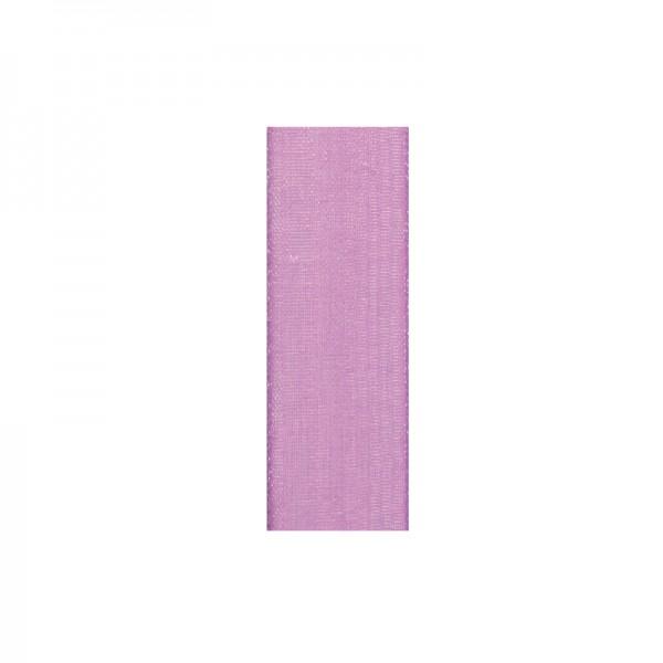 Chiffonband, 10mm breit, 10m lang - flieder
