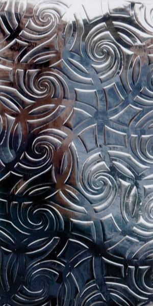Wachsplatte, 200x100x0,5mm, silber Linien