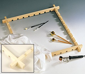 Batik-Rahmen / Seidensteck-Rahmen, 32 cm