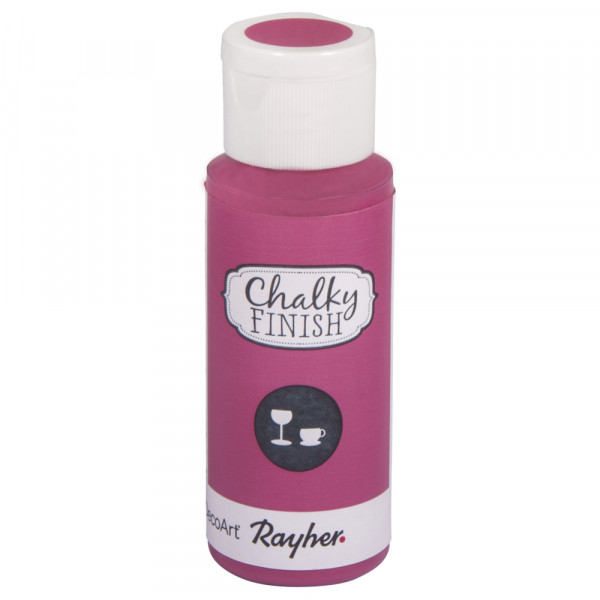 Chalky-Finish Kreidefarbe für Glas 59 ml - pink