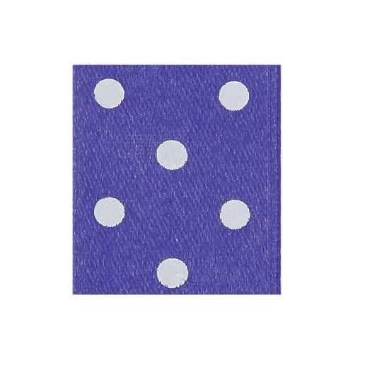 Satinband Punktedruck - doppelseitig, 10mm - pflaume
