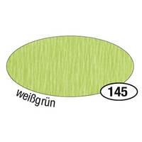 Krepppapier, 50 cm x 2,5 m, weißgrün