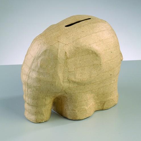 Spardose Elefant, aus Pappmache