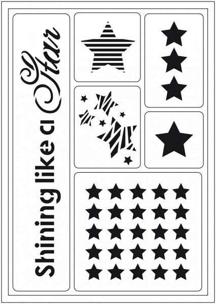 Viva Decor Flex-Schablone A5 - Shining like a a Star