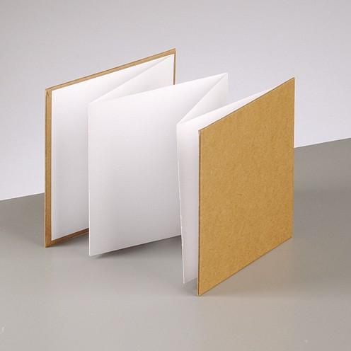 Leporello, aus Pappmachè, 13x13cm, 6 Seiten 200 gr.