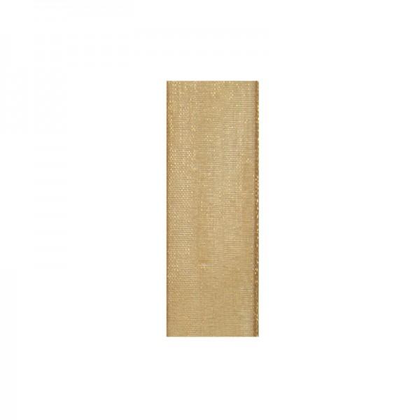 Chiffonband, 10mm breit, 10m lang - hellbraun