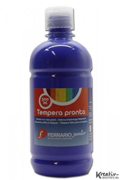 Tempera pronta, Temperafarbe, 500 ml, Ultramarinblau