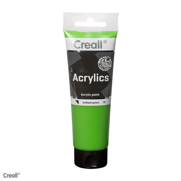 Creall-studio Acrylfarbe, 120 ml, Brillantgrün