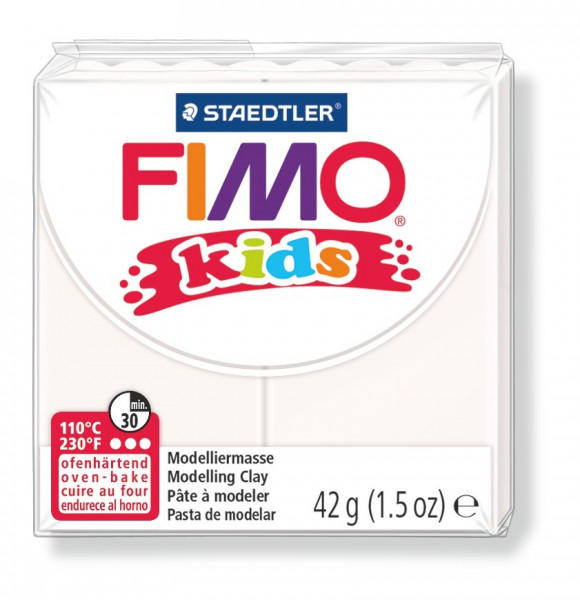 FIMO kids, Modelliermasse, 42 g, weiß