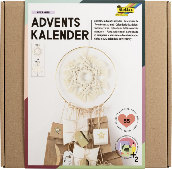 "Adventskalender-Set ""Makramee, 55 Teile"