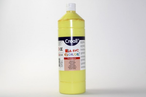 Basic-color, Schultempera, 1000 ml, hellgelb