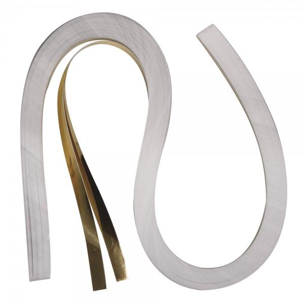 Quilling Papierstreifen / Folie, 9mm x 530mm, gold