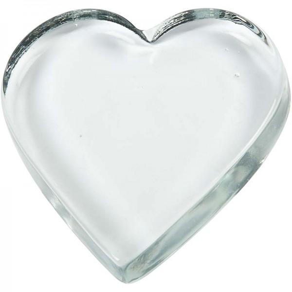 Glas-Herz, 9 x 9 cm